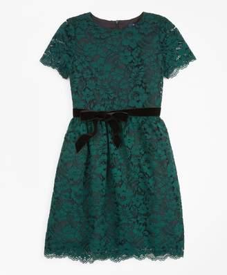 Brooks Brothers Girls Short-Sleeve Lace Dress