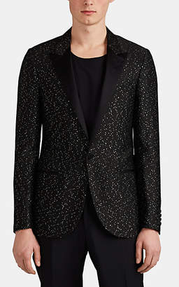 Lanvin Men's Satin-Trimmed Sequined One-Button Tuxedo Jacket - Black