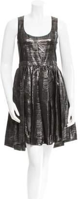 Adam Sleeveless Metallic Dress Black Sleeveless Metallic Dress