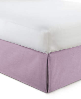 "Colcha Linens Cambric Mauve Bedskirt 15"" Drop Twin/Twin-xl Bedding"