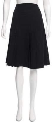 Akris Pleated Knee-Length Skirt