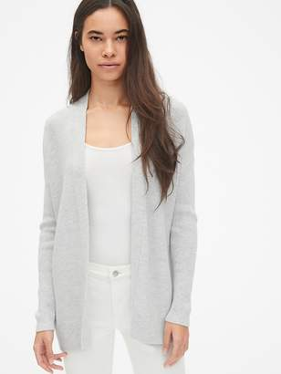 Gap True Soft Mix-Stitch Relaxed Open-Front Cardigan Sweater
