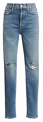 RE/DONE Women's Ultra High-Rise Distressed Jeans
