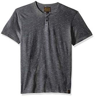 Lucky Brand Men's Casual Short Sleeve Stripe Notch Neck TEE