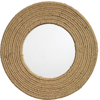 "Jamie Young Large 24"" Round Jute Accent Mirror - Natural"