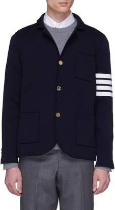 Thom Browne Stripe sleeve wool coat