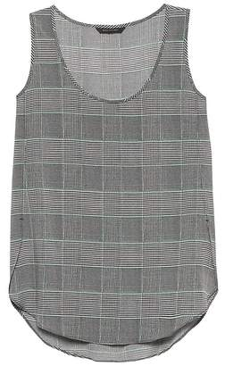 Banana Republic Plaid Scoop High-Low Tank