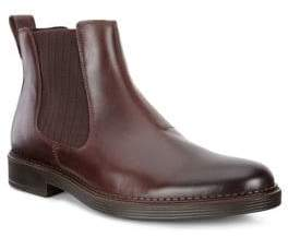 Ecco Newcastle Fluidform Leather Chelsea Boots