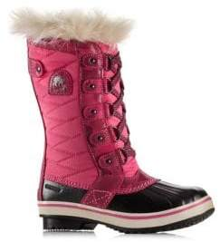 Sorel Girl's Tofino Pink Ice Rubber Boots