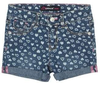 Jordache Baby Toddler Girl 5-Pocket Roll Cuff Printed Denim Shorts
