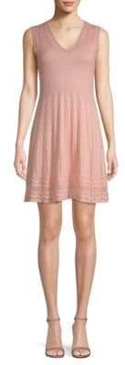 M Missoni Rib Knit V-Neck Dress