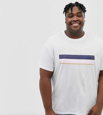 New Look Plus t-shirt with nostalgia print in white