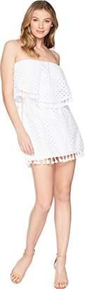 Jack by BB Dakota Junior's Leighton Eyelet Tube Dress with Tassel Trim
