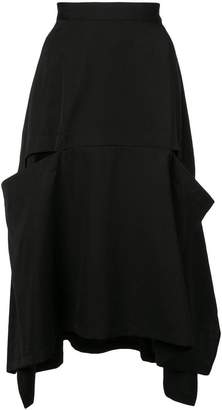 Y's asymmetric midi skirt