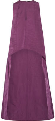 Narciso Rodriguez Asymmetric Washed Silk-satin Top - Violet