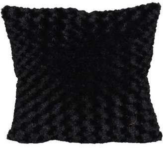 """Better Homes & Gardens Better Homes and Gardens Rosette Fur Decorative Toss Pillow 18""""x18"""", Ivory"""