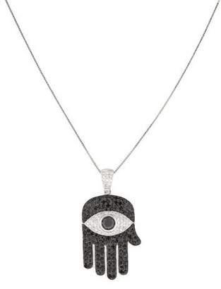 14K Diamond Hamsa Pendant Necklace