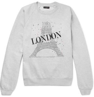 Balenciaga Oversized Printed Fleece-Back Cotton-Blend Jersey Sweatshirt