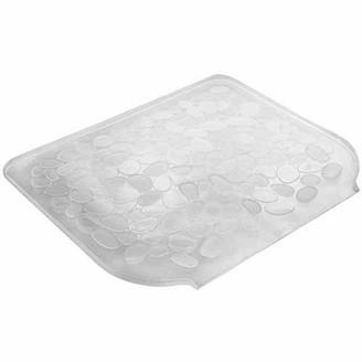 InterDesign Pebblz Kitchen Dish Drain Board for Pots, Pans, Glasses, Bowls, Large, Clear