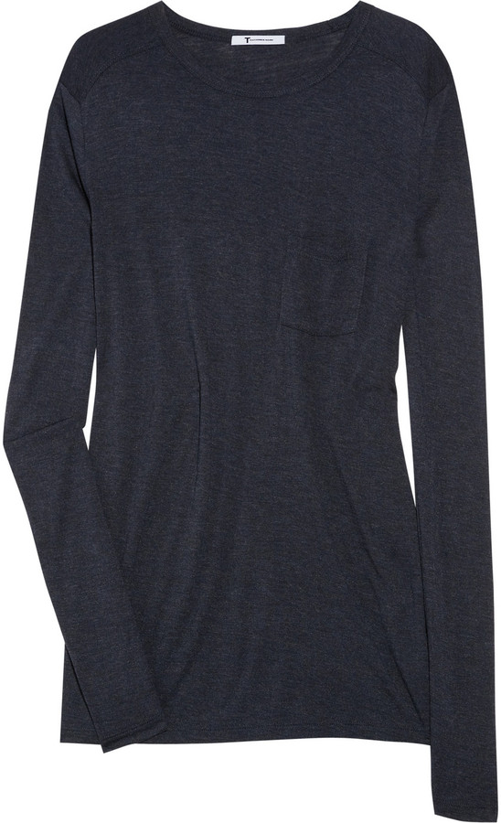 T by Alexander Wang Classic long-sleeved jersey T-shirt