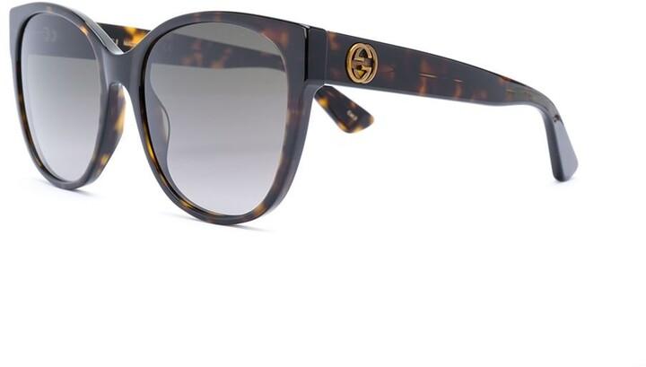 Gucci round frame sunglasses
