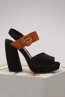 Prada Banana Platform Sandals