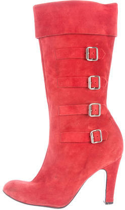Marc Jacobs Marc Jacobs Suede Mid-Calf Boots