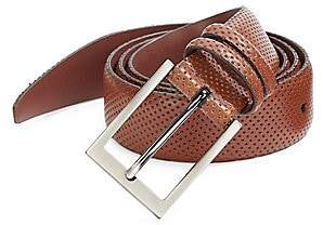 Saks Fifth Avenue Perforated Leather Belt
