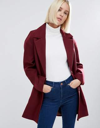 ASOS Boyfriend Coat in Cocoon Fit $88 thestylecure.com