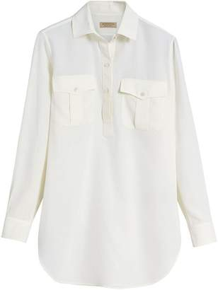 Burberry Silk Tunic Shirt