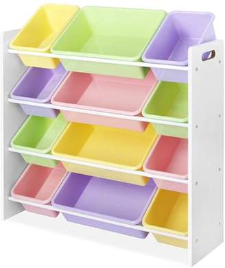 Whitmor Storage 12 Bin Rack, Pastel