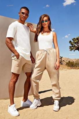 boohoo His Loose Fit Embroidered T-Shirt & Short Set