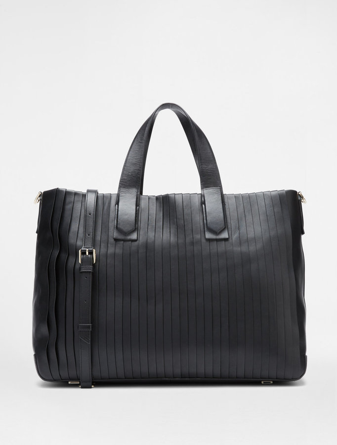 DKNY Large Pleated Tote