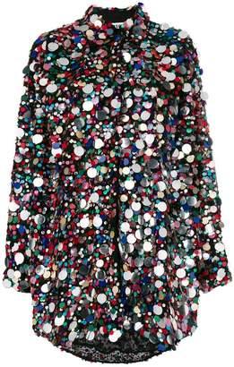 MSGM sequin embellished shirt