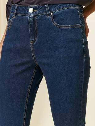 Wallis Petite Authentic Wash Harper Straight Leg Jean - Denim