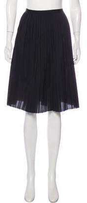 Organic by John Patrick Pleated Knee-Length Skirt