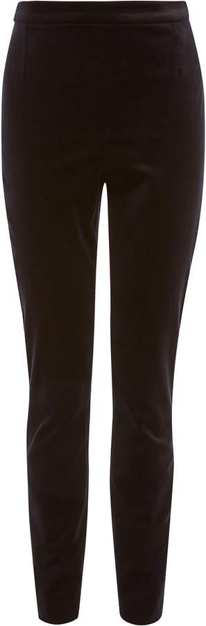 High-Waisted Velvet Leggings