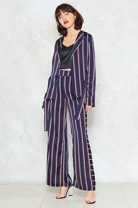 Nasty Gal Set the Record Straight Wide-Leg Pants
