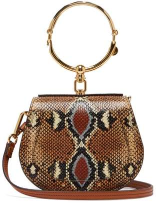Chloé Nile Small Python Effect Leather Cross Body Bag - Womens - Multi 3f93064ade7e
