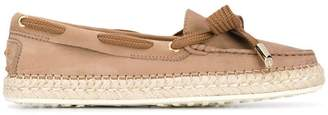 Tod's lace-up espadrille loafers