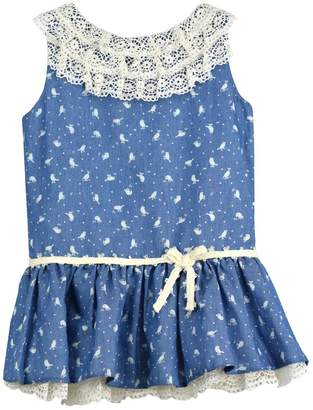 cesar blanco Bird Denim Dress