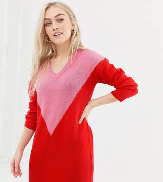 Brave Soul Petite chevron sweater dress