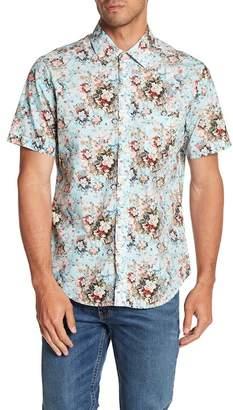 Kennington Baroque Flower Short Sleeve Slim Fit Shirt