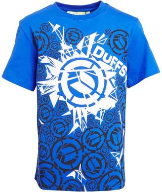 DuFFS Boys Shattered Ds T-Shirt Royal