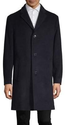"London Fog 38"" Wool Cashmere Overcoat"