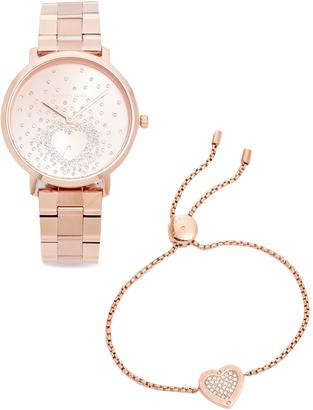 Michael Kors Jaryn Pave Heart Watch $295 thestylecure.com
