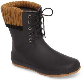 dav Lace-Up Water Resistant Rain Boot