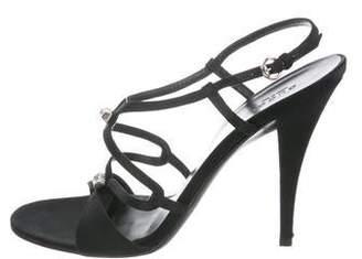 Gucci Satin Slingback Sandals