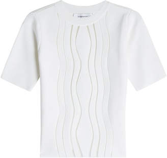 Carven Knitted Top with Short Sleeves