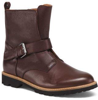 Premium Leather Lug Sole Boots